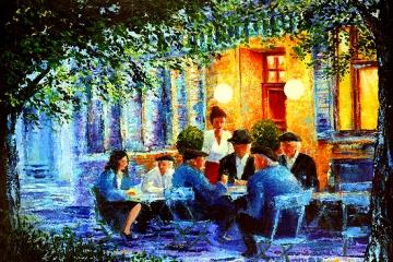 Blue Cafe Revisited SOLD