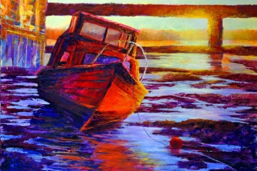 Waiting for the tide - 100cm x 100cm - £1800