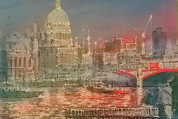 London - Original - 750mm x 750mm - £945