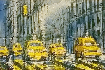 New York - Original - 450mm x 900mm - £945