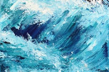 The Wave - 42cm x 30cm - £250